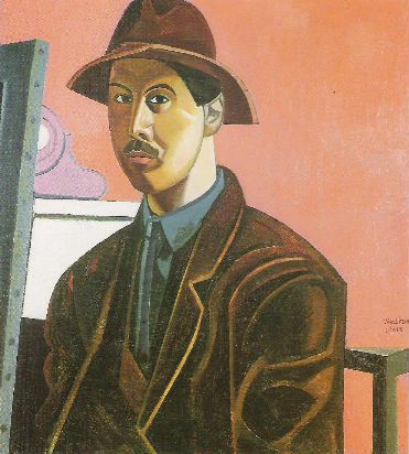 Wyndham Lewis self-portrait